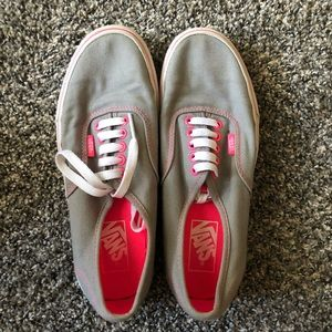 Pink and gray vans